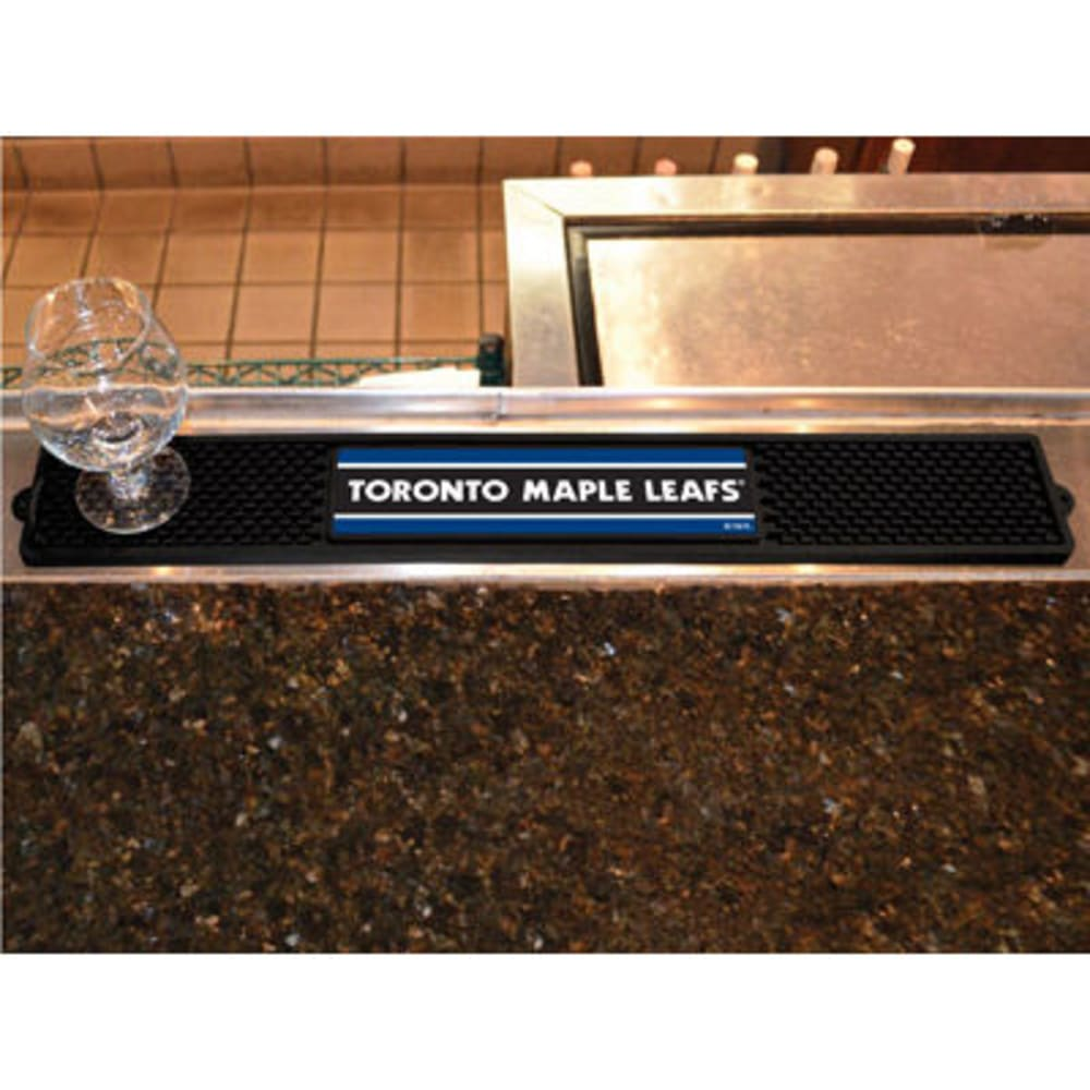 FAN MATS Toronto Maple Leafs Drink Mat, Black - BLACK