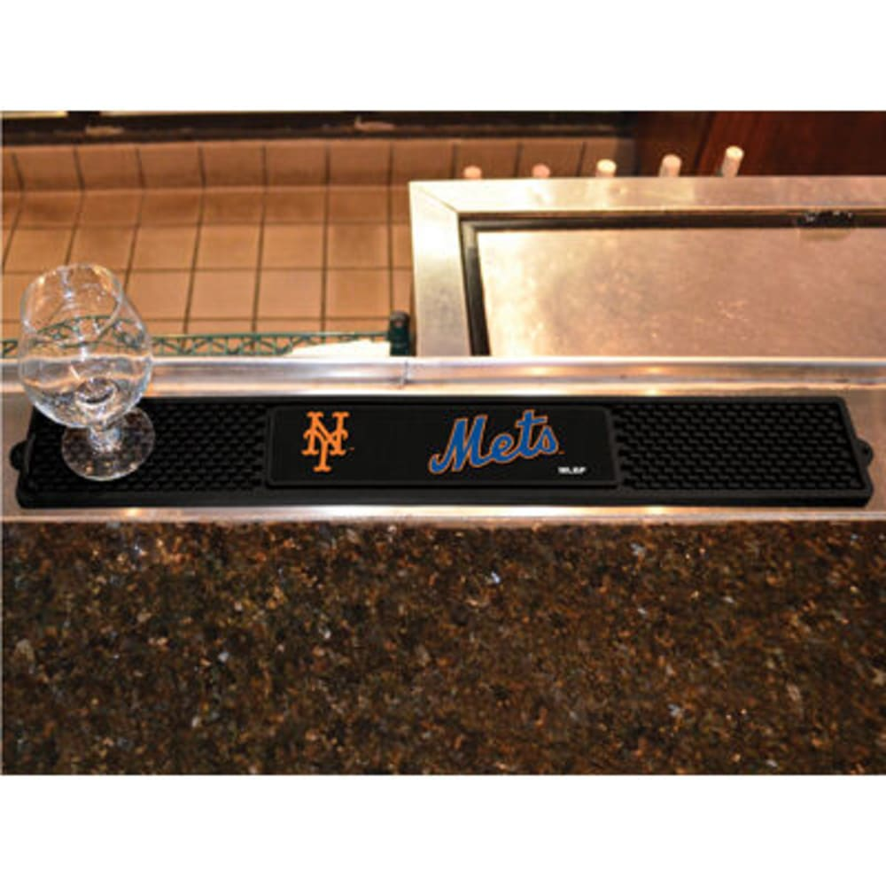FAN MATS New York Mets Drink Mat, Black - BLACK
