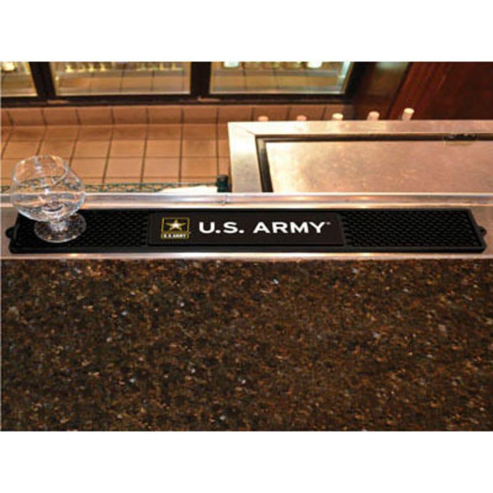 FAN MATS U.S. Army Drink Mat, Black - BLACK
