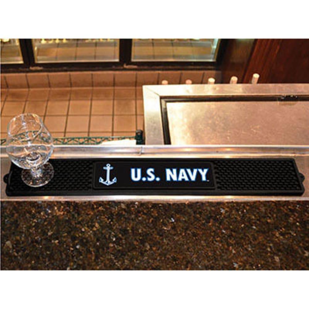 FAN MATS U.S. Navy Drink Mat, Black - BLACK