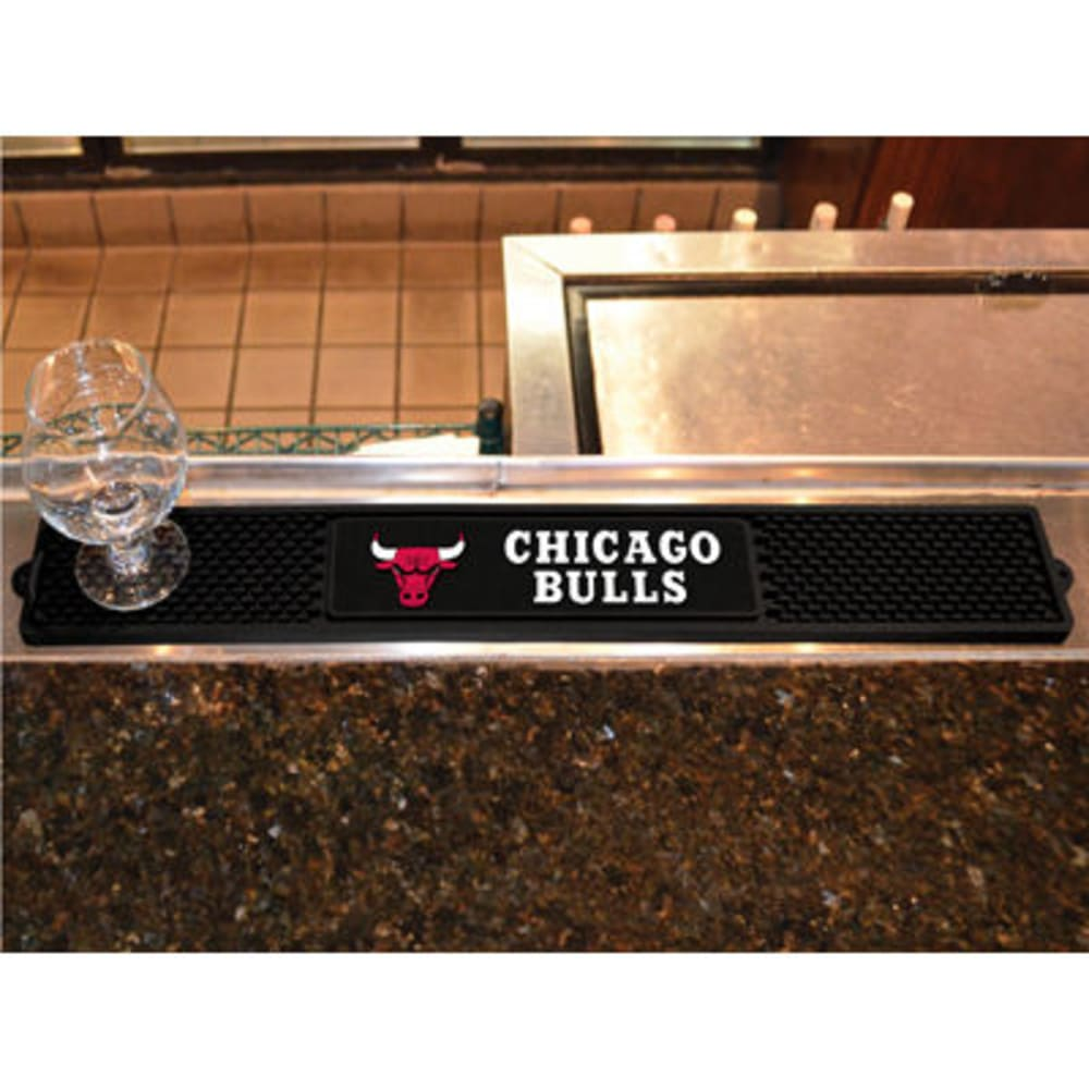 FAN MATS Chicago Bulls Drink Mat, Black - BLACK