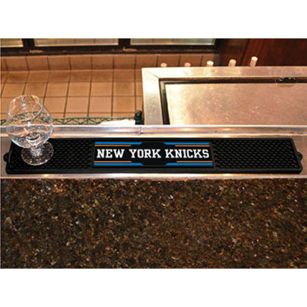 FAN MATS New York Knicks Drink Mat, Black ONE SIZE