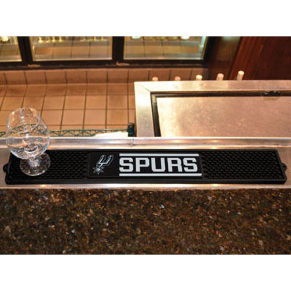 FAN MATS San Antonio Spurs Drink Mat, Black ONE SIZE