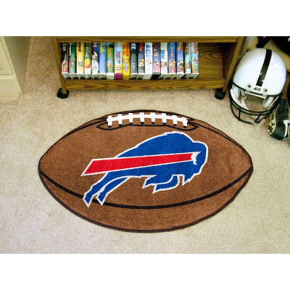 FAN MATS Buffalo Bills Football Mat, Brown/Blue - BROWN/BLUE
