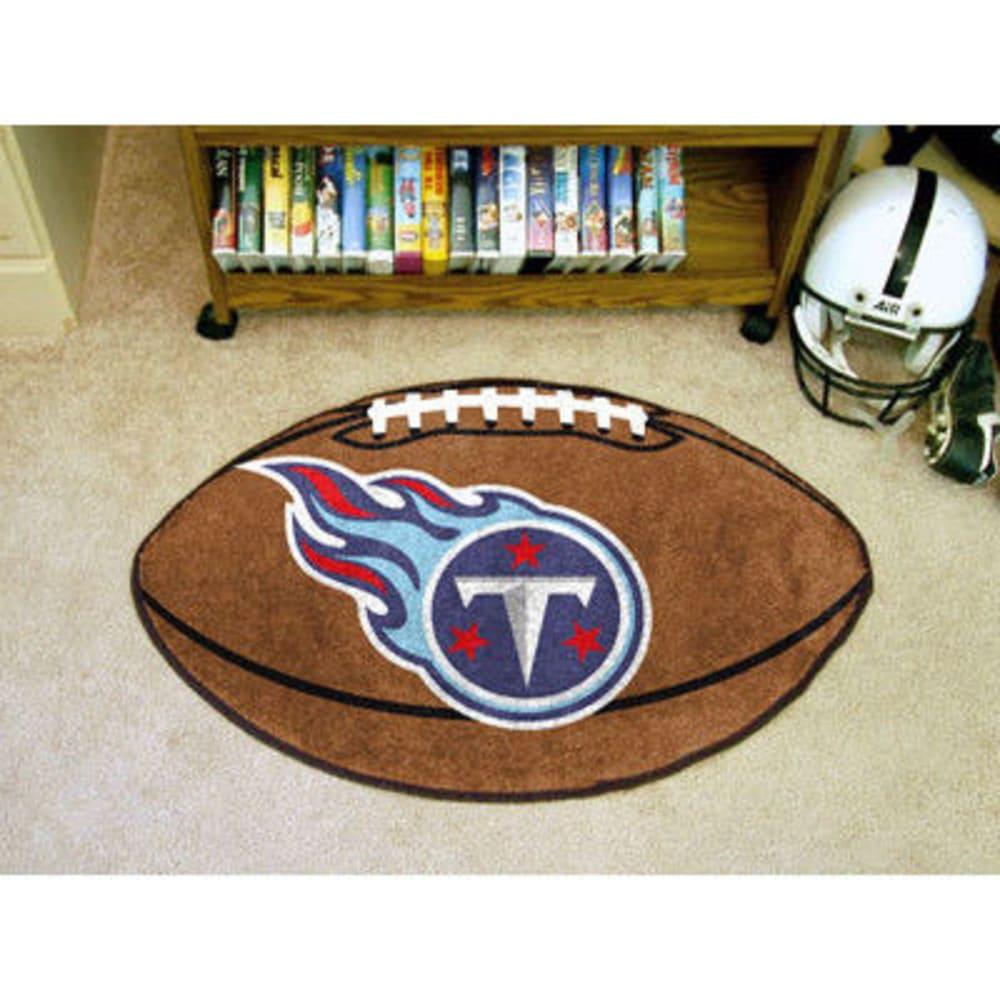 FAN MATS Tennessee Titans Football Mat, Brown/Blue - BROWN/BLUE