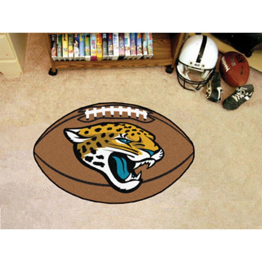 FAN MATS Jacksonville Jaguars Football Mat, Brown/Gold ONE SIZE