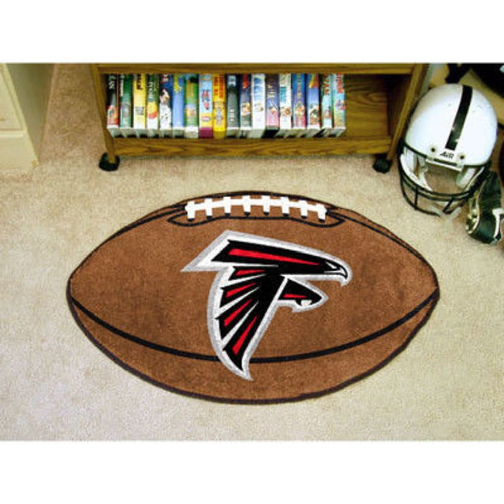FAN MATS Atlanta Falcons Football Mat, Brown/Red - BROWN/RED