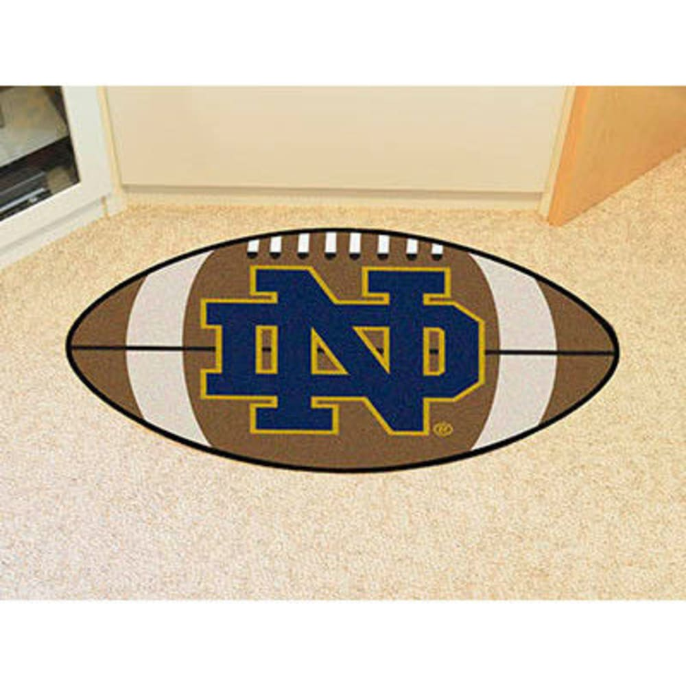 FAN MATS Notre Dame Football Mat, Brown/Blue - BROWN/BLUE
