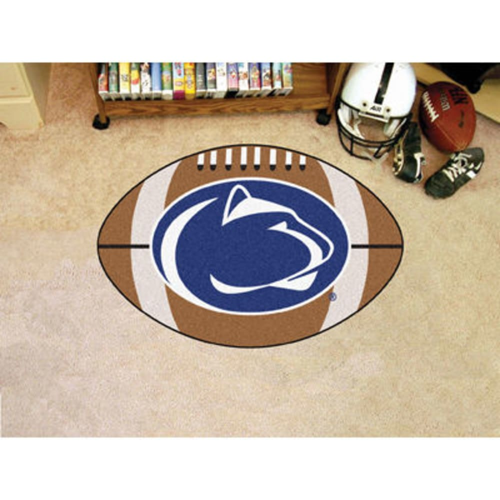 FAN MATS Penn State Football Mat, Brown/Blue - BROWN/BLUE