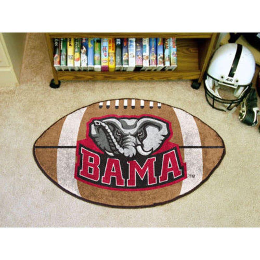 FAN MATS University of Alabama Football Mat, Brown/Crimson ONE SIZE