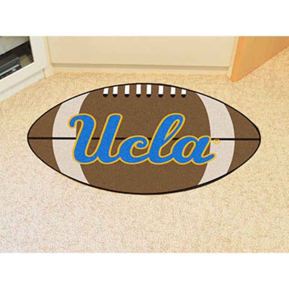 FAN MATS University of California (UCLA) Football Mat, Brown/Blue - BROWN/BLUE