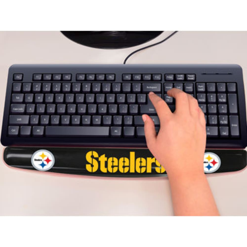 FAN MATS Pittsburgh Steelers Gel Wrist Rest, Black - BLACK