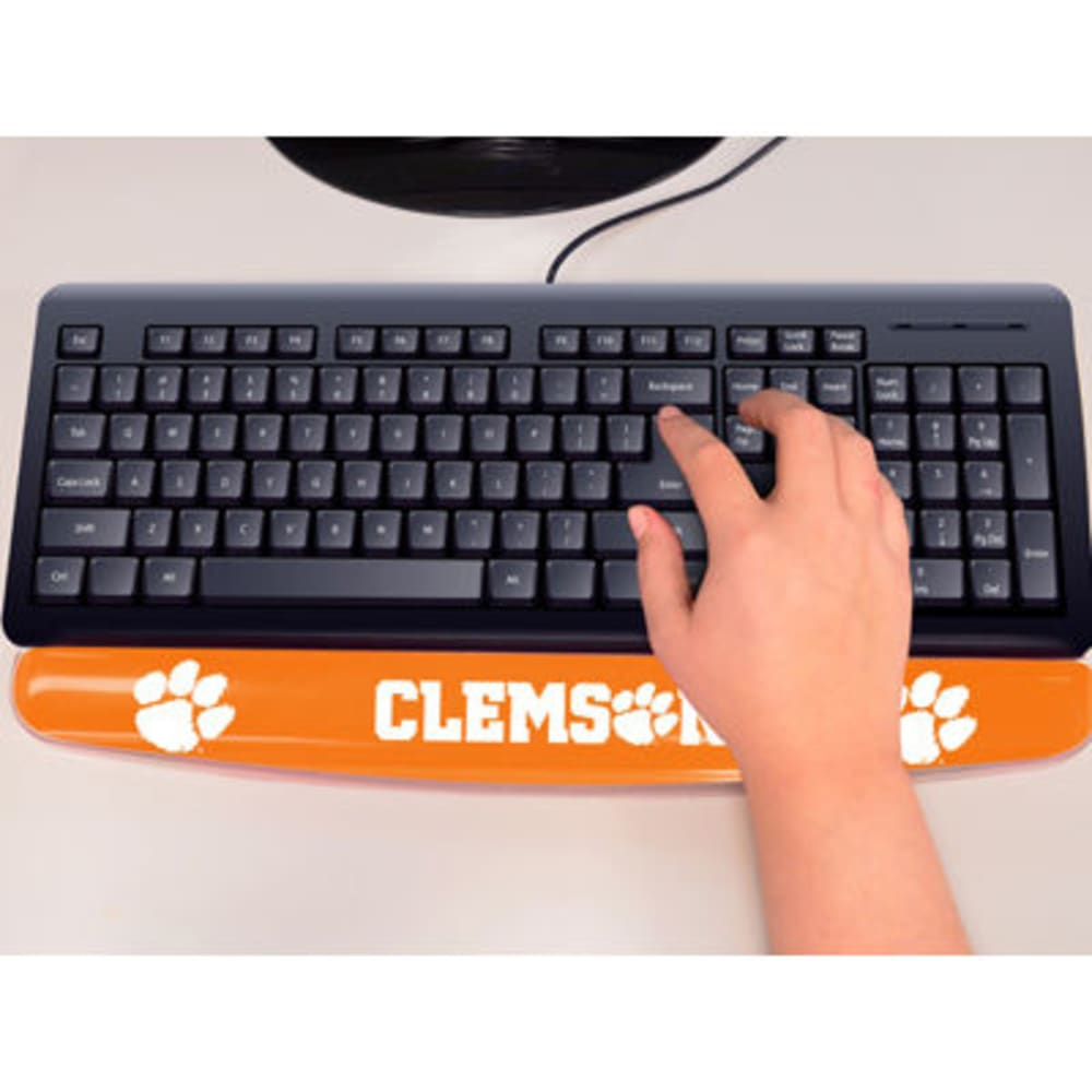 FAN MATS Clemson University Gel Wrist Rest, Orange/White ONE SIZE