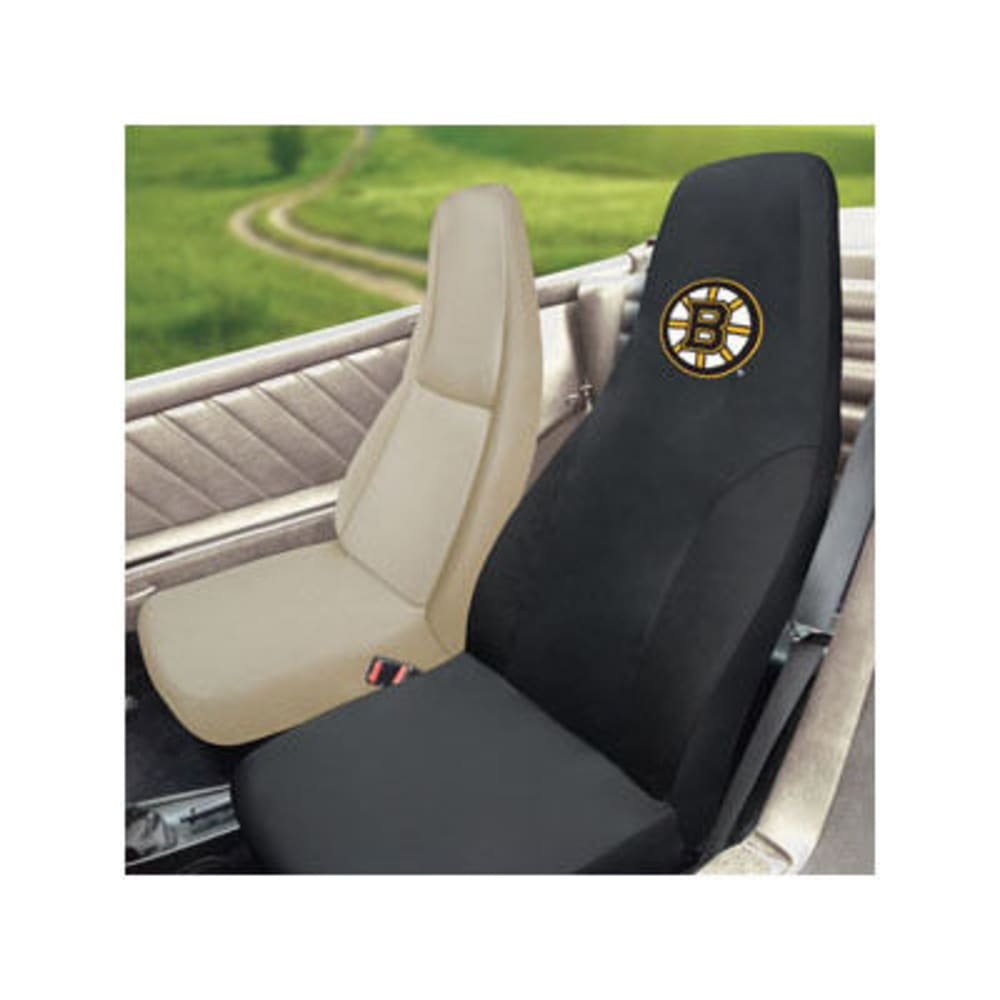 FAN MATS Boston Bruins Seat Cover, Black ONE SIZE