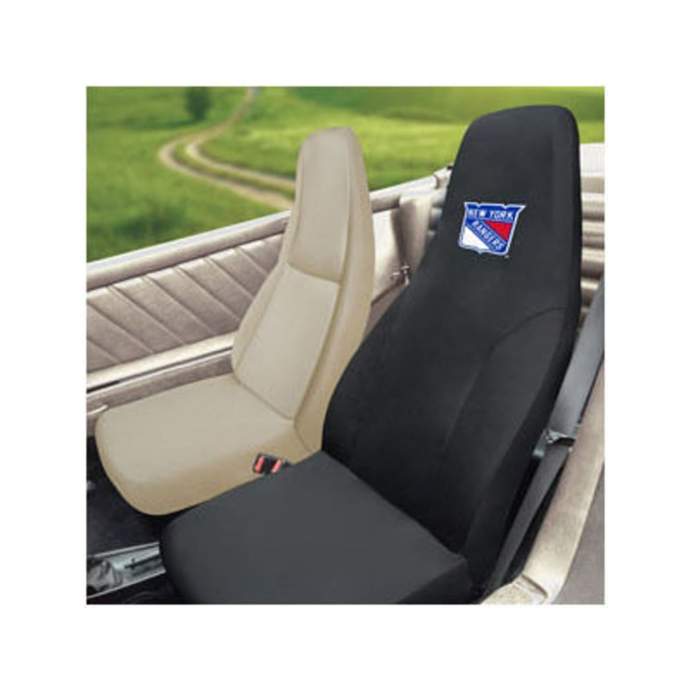 FAN MATS New York Rangers Seat Cover, Black ONE SIZE