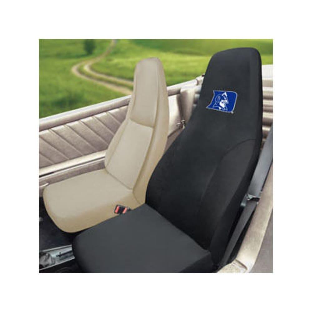 FAN MATS Duke University Seat Cover, Black - BLACK