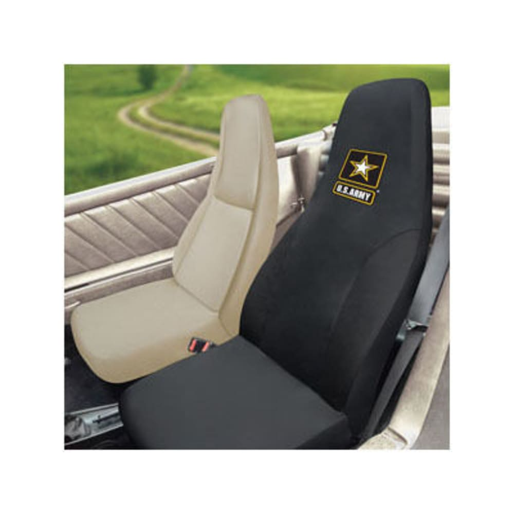 FAN MATS U.S. Army Seat Cover, Black ONE SIZE