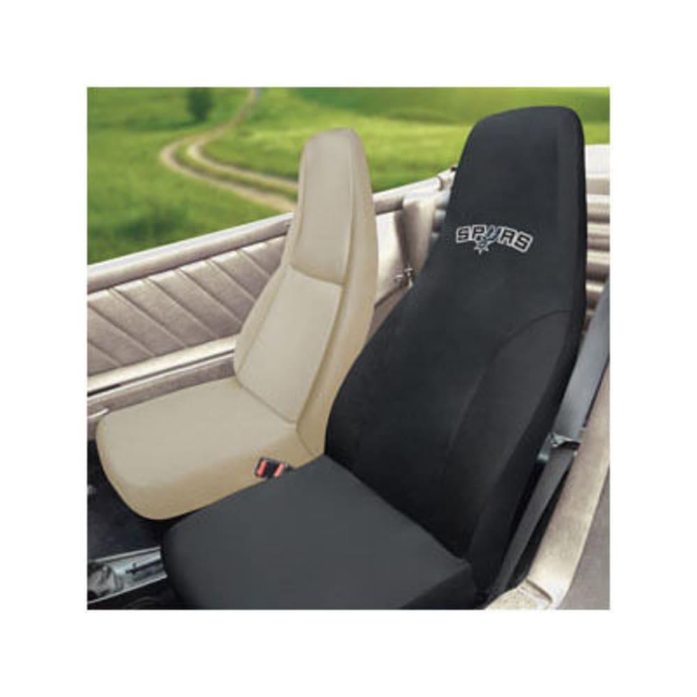 FAN MATS San Antonio Spurs Seat Cover, Black - BLACK
