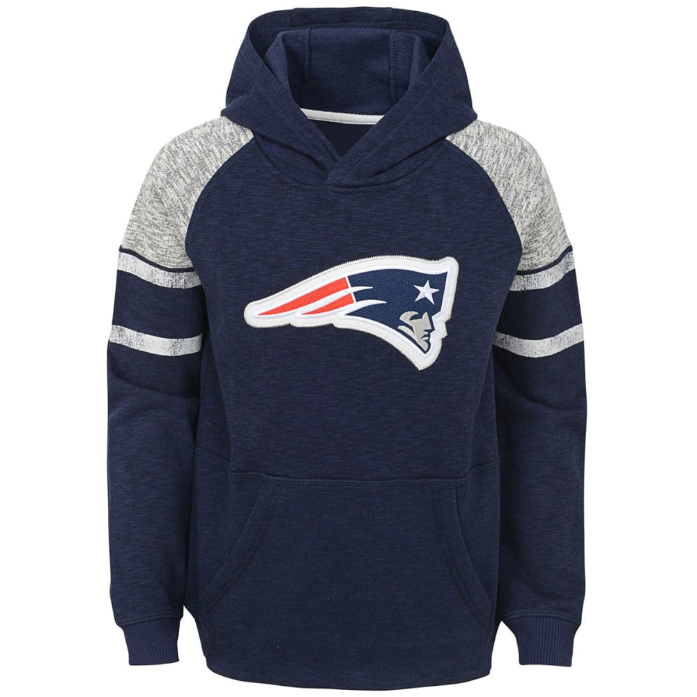 NEW ENGLAND PATRIOTS Big Boys' Linebacker Applique Pullover Hoodie S