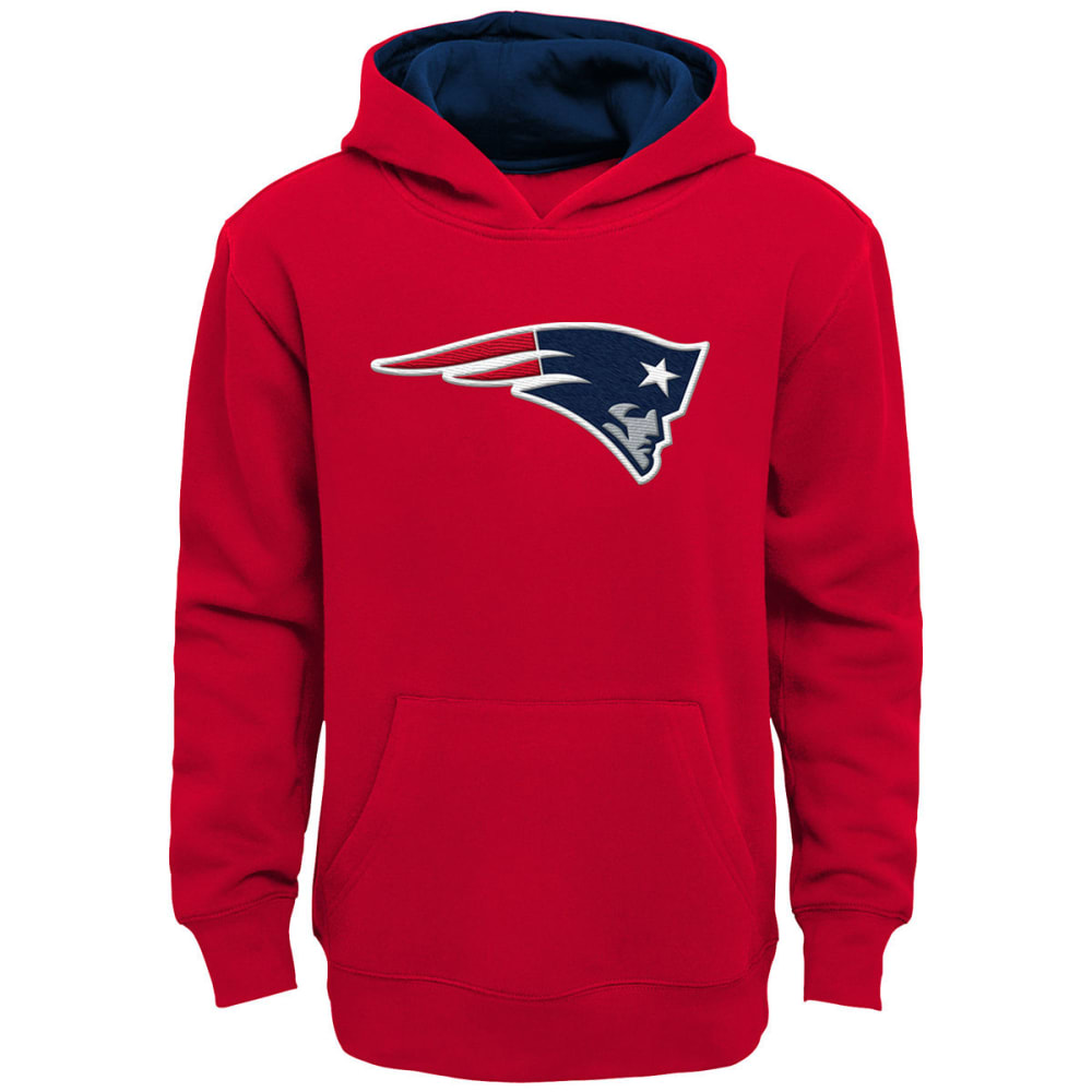 NEW ENGLAND PATRIOTS Big Boys' Prime Pullover Hoodie - RED