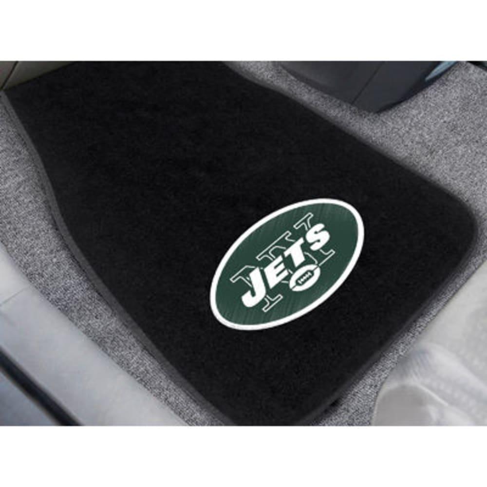 Fan Mats New York Jets 2-Piece Embroidered Car Mat Set, Black
