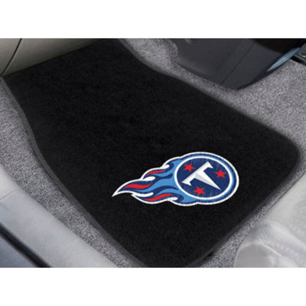 Fan Mats Tennessee Titans 2-Piece Embroidered Car Mat Set, Black