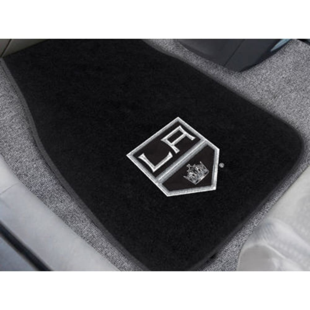 FAN MATS Los Angeles Kings 2-Piece Embroidered Car Mat Set, Black - BLACK