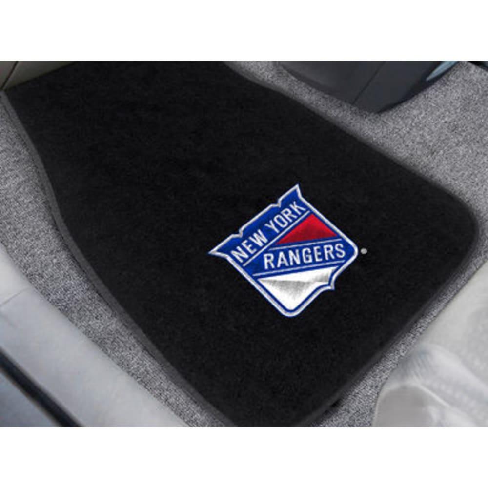 Fan Mats New York Rangers 2-Piece Embroidered Car Mat Set, Black