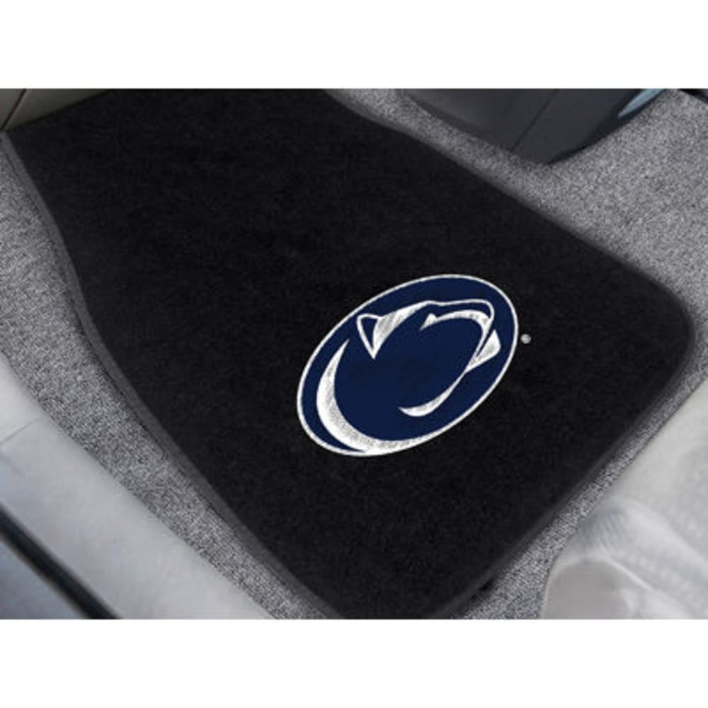 Fan Mats Penn State 2-Piece Embroidered Car Mat Set, Black