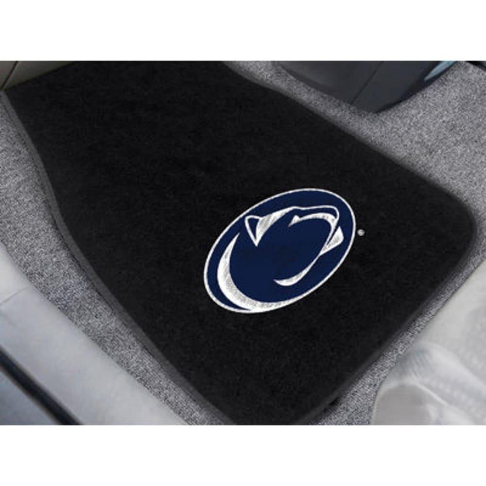 FAN MATS Penn State 2-Piece Embroidered Car Mat Set, Black - BLACK