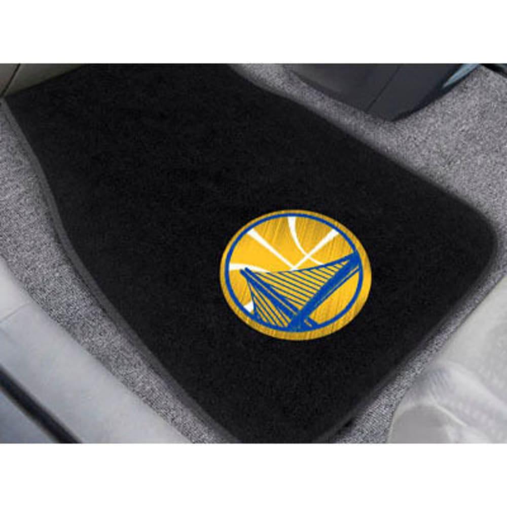 FAN MATS Golden State Warriors 2-Piece Embroidered Car Mat Set, Black - BLACK