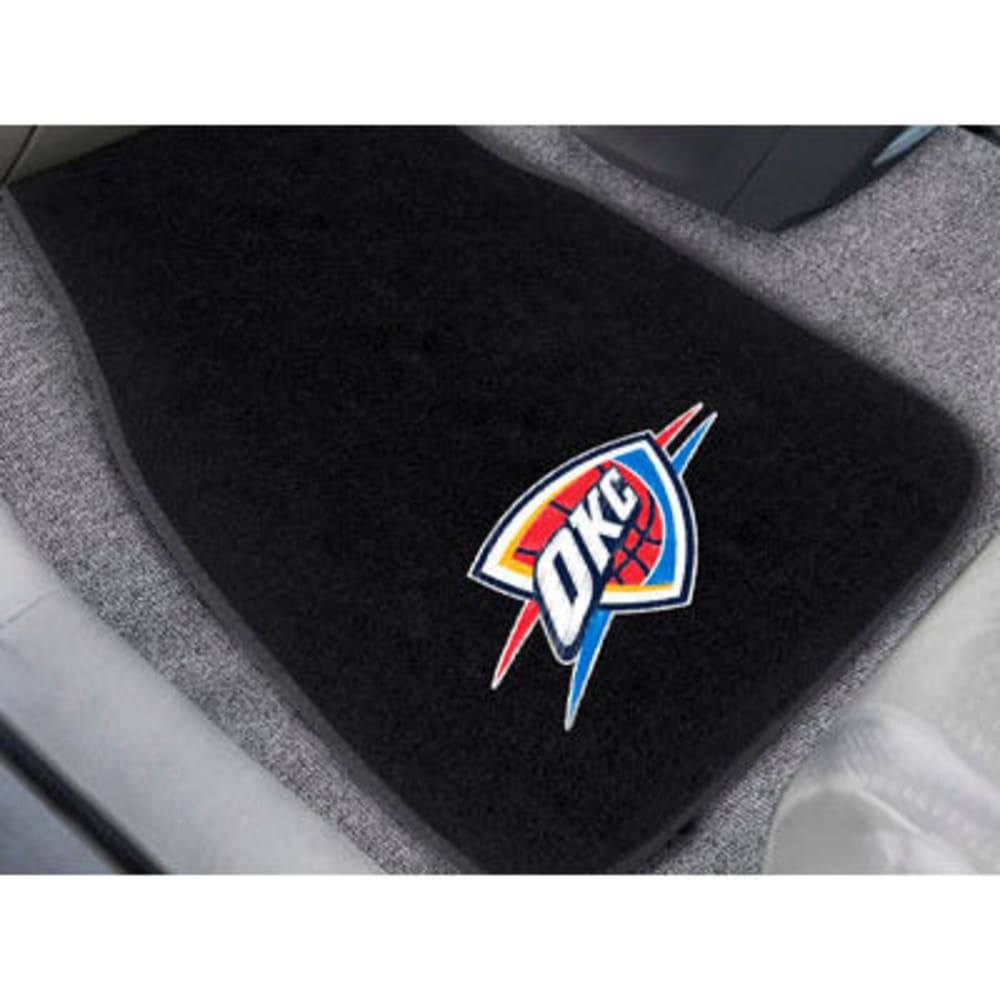 Fan Mats Oklahoma City Thunder 2-Piece Embroidered Car Mat Set, Black