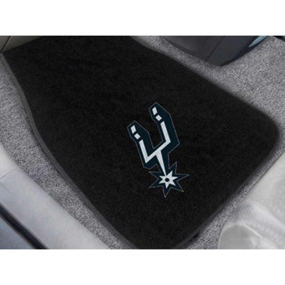 Fan Mats San Antonio Spurs 2-Piece Embroidered Car Mat Set, Black
