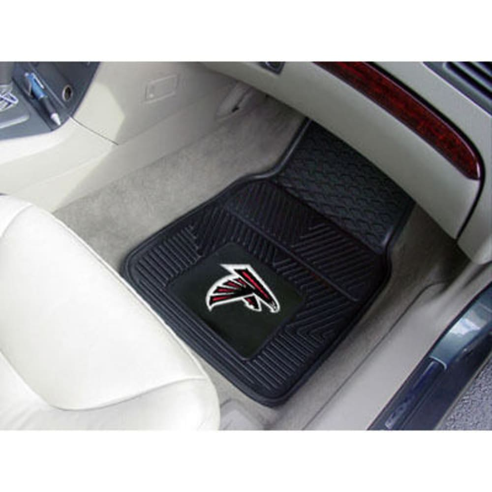 Fan Mats Atlanta Falcons 2-Piece Vinyl Car Mat Set, Black