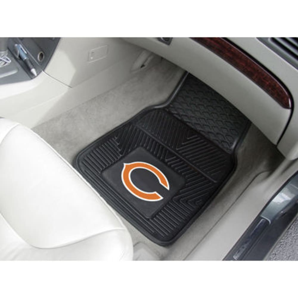 Fan Mats Chicago Bears 2-Piece Vinyl Car Mat Set, Black