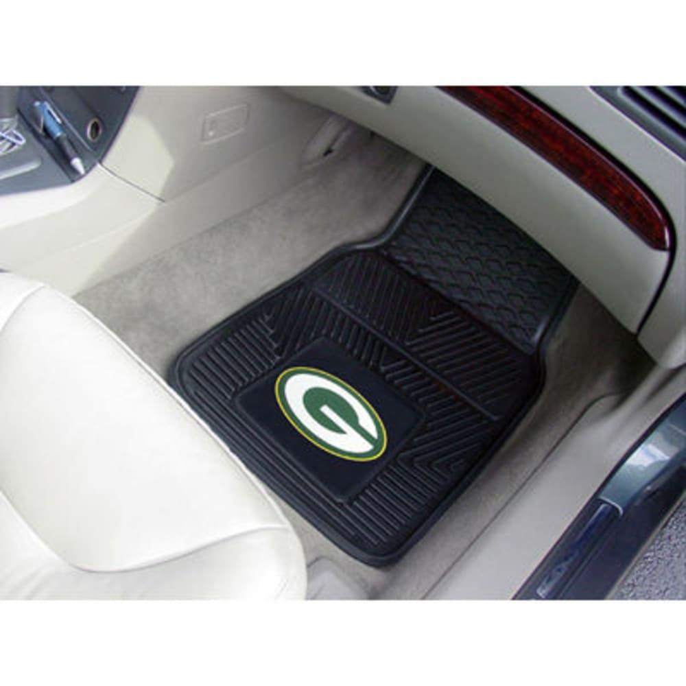 FAN MATS Green Bay Packers 2-Piece Vinyl Car Mat Set, Black ONE SIZE