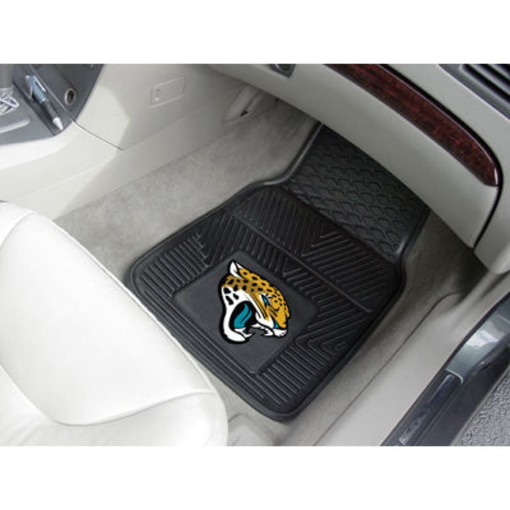 Fan Mats Jacksonville Jaguars 2-Piece Vinyl Car Mat Set, Black