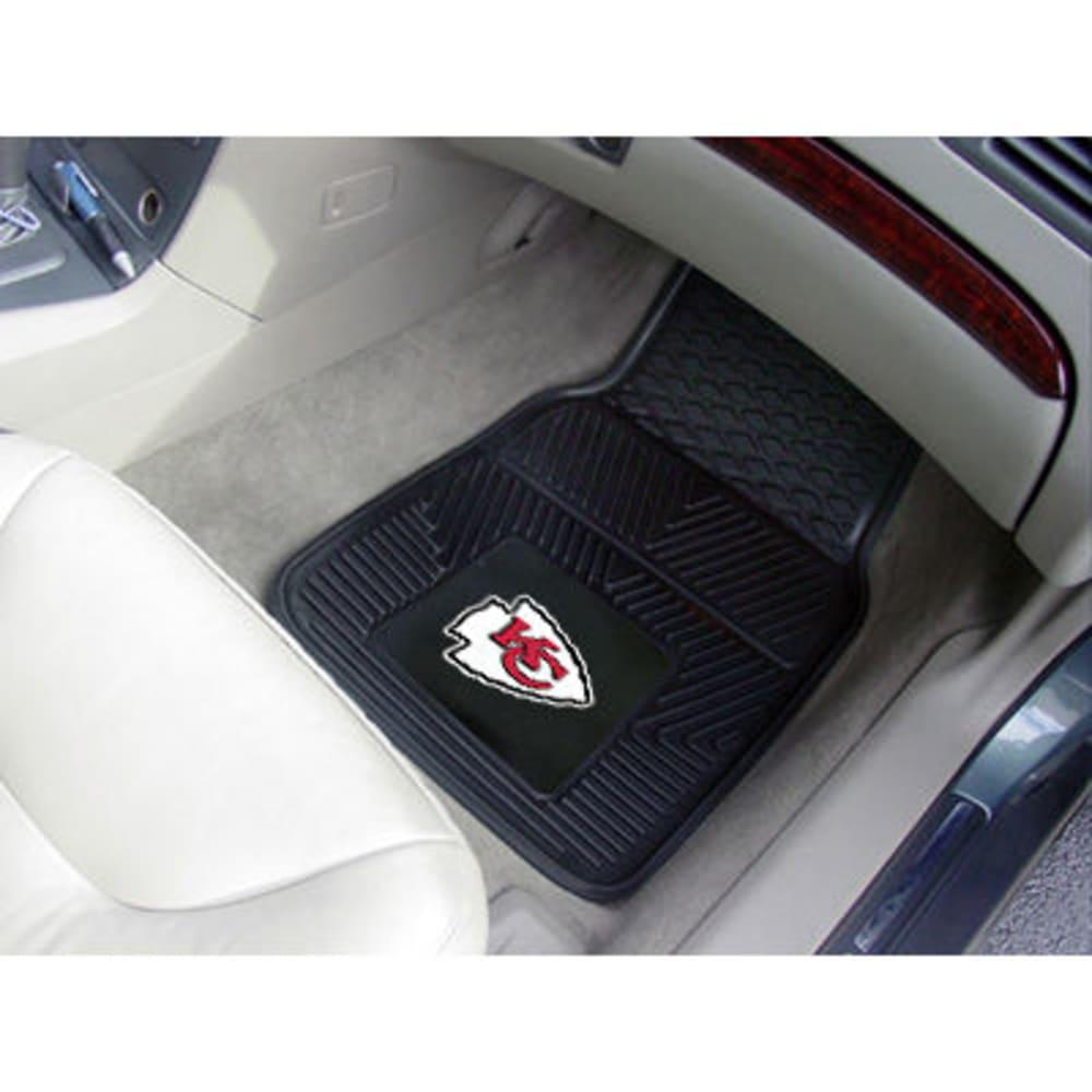 Fan Mats Kansas City Chiefs 2-Piece Vinyl Car Mat Set, Black