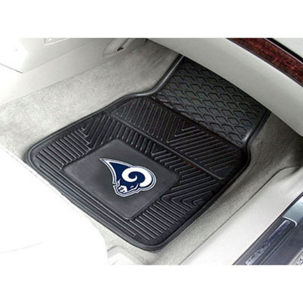 Fan Mats Los Angeles Rams 2-Piece Vinyl Car Mat Set, Black