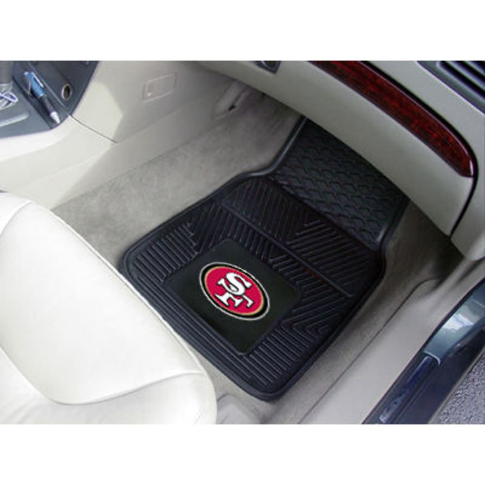 Fan Mats San Francisco 49Ers 2-Piece Vinyl Car Mat Set, Black