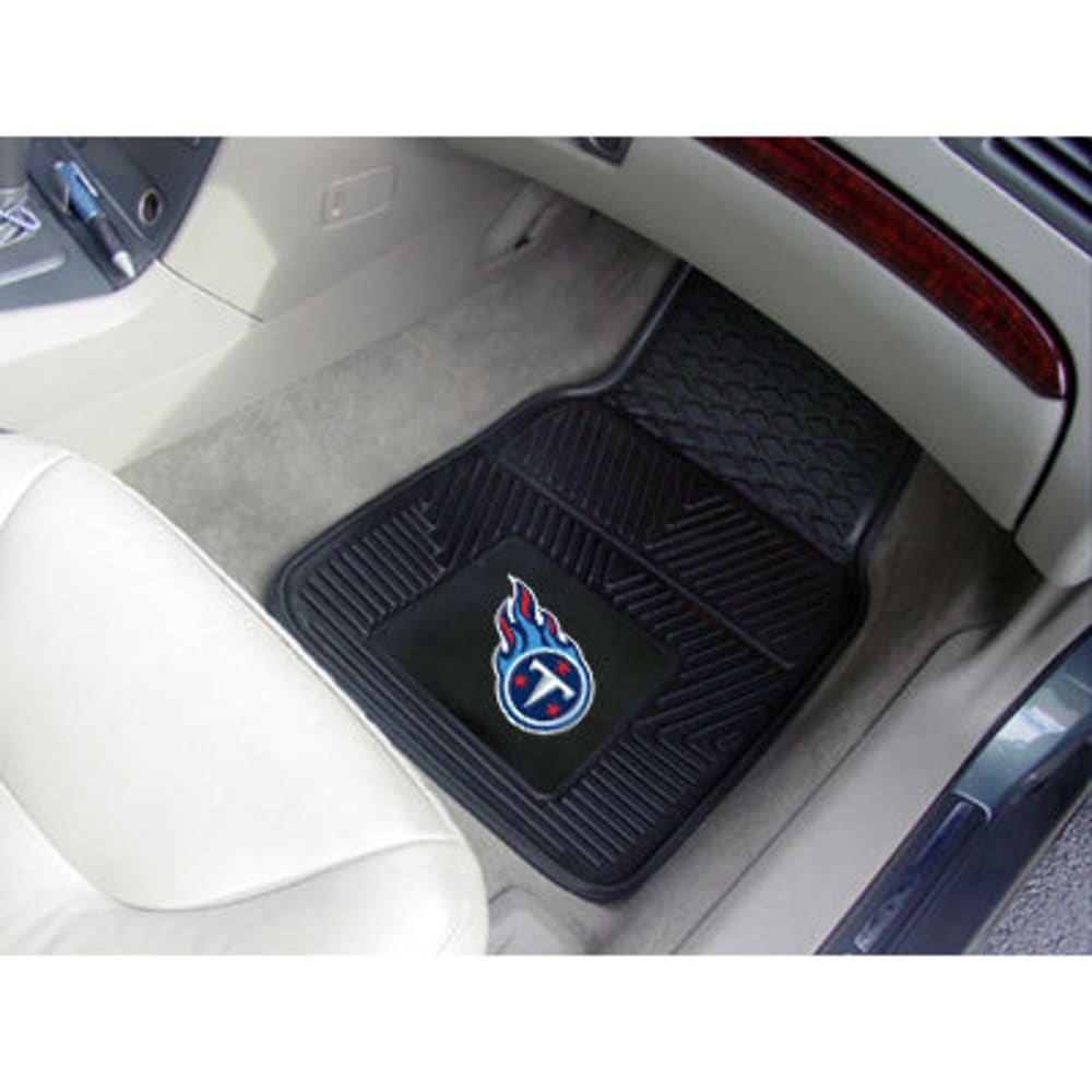 FAN MATS Tennessee Titans 2-Piece Vinyl Car Mat Set, Black ONE SIZE