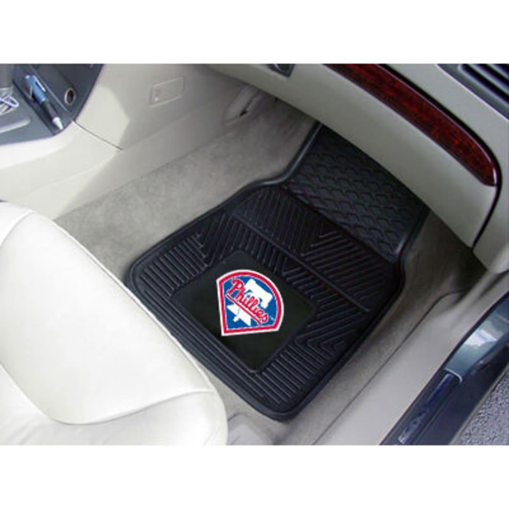 FAN MATS Philadelphia Phillies 2-Piece Vinyl Car Mat Set, Black ONE SIZE