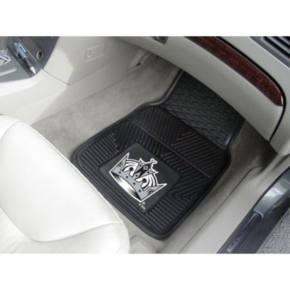 FAN MATS Los Angeles Kings 2-Piece Vinyl Car Mat Set, Black ONE SIZE
