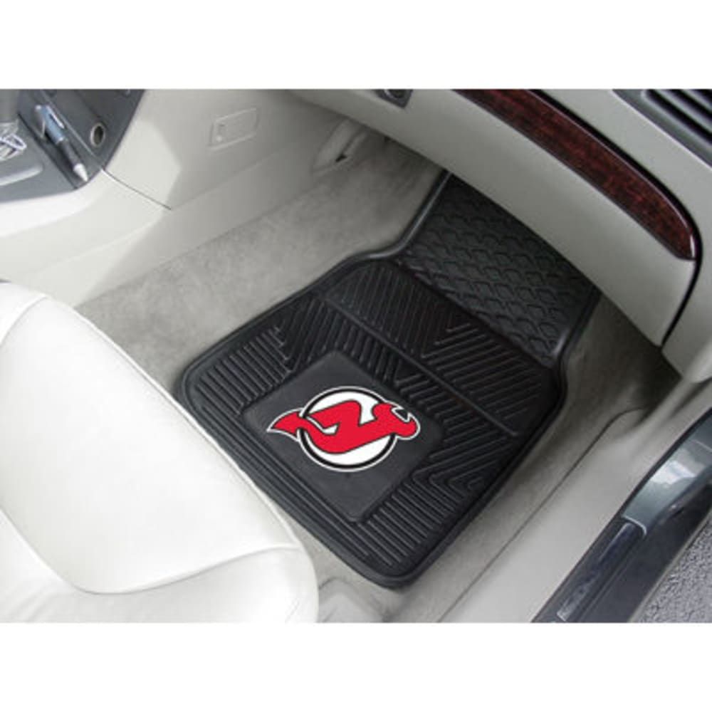 FAN MATS New Jersey Devils 2-Piece Vinyl Car Mat Set, Black - BLACK