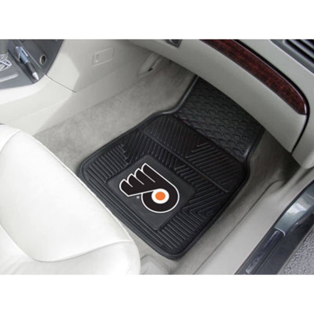 Fan Mats Philadelphia Flyers 2-Piece Vinyl Car Mat Set, Black
