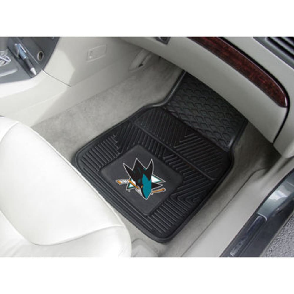 Fan Mats San Jose Sharks 2-Piece Vinyl Car Mat Set, Black