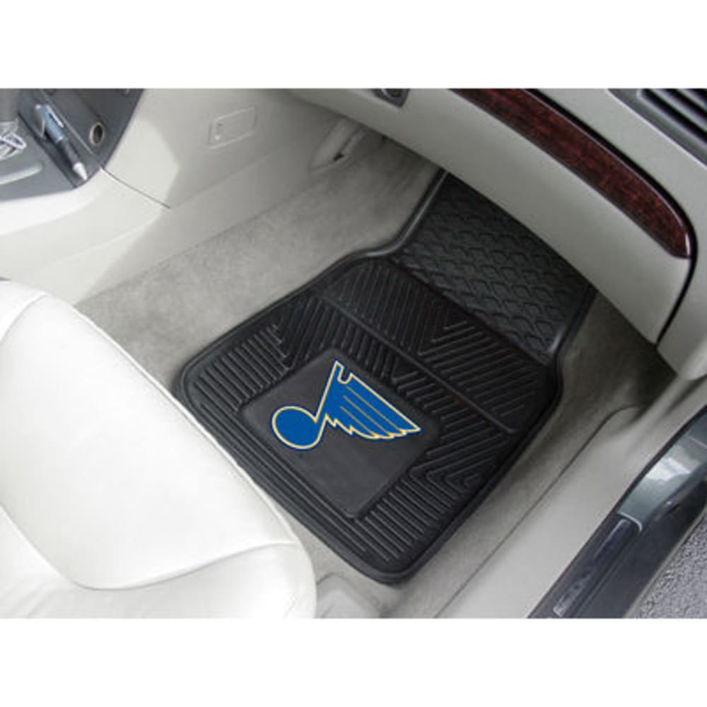 Fan Mats St. Louis Blues 2-Piece Vinyl Car Mat Set, Black