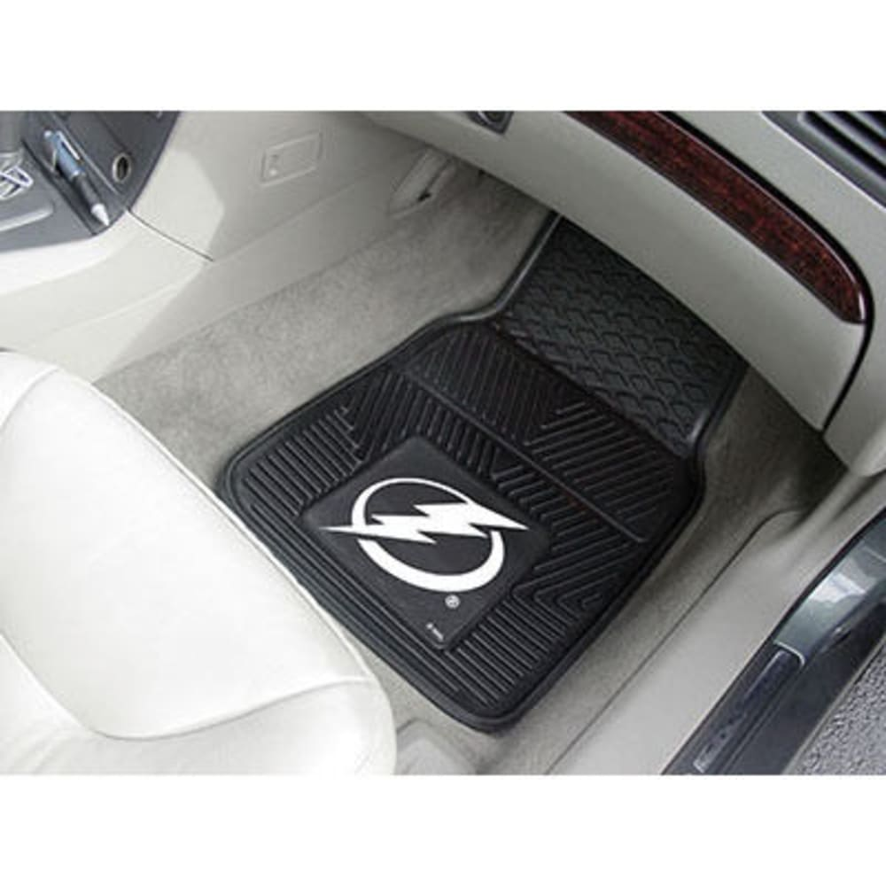 Fan Mats Tampa Bay Lightning 2-Piece Vinyl Car Mat Set, Black
