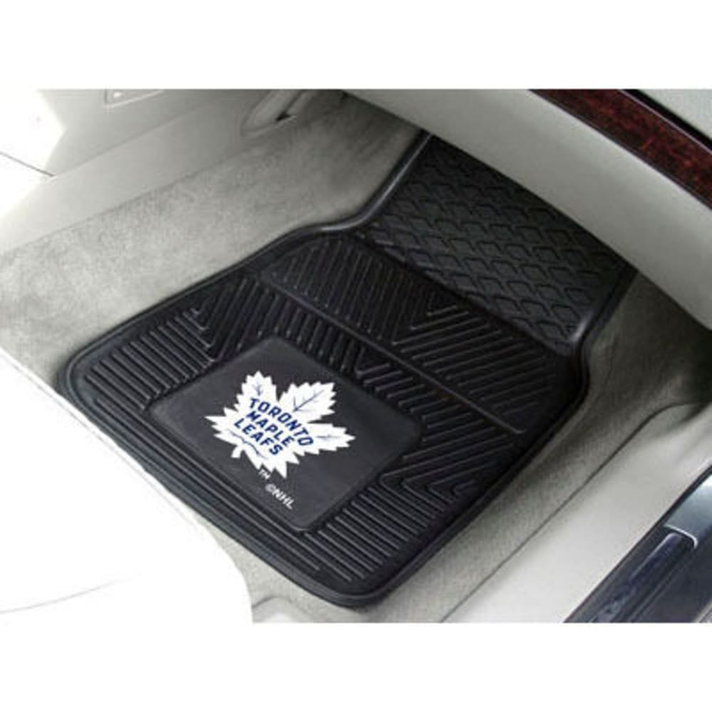 Fan Mats Toronto Maple Leafs 2-Piece Vinyl Car Mat Set, Black