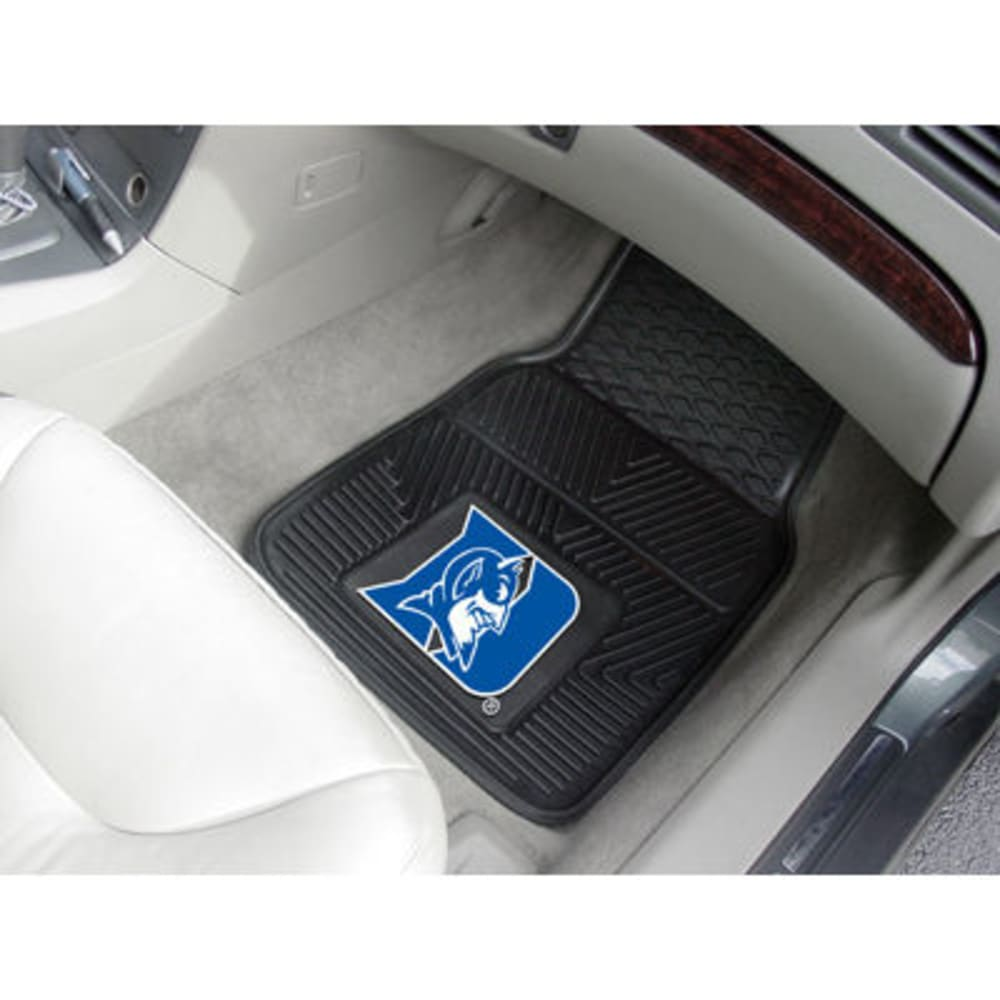Fan Mats Duke University 2-Piece Vinyl Car Mat Set, Black